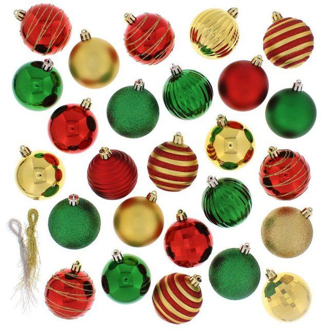 Festive 100-Pack Classic Christmas Ball Ornaments