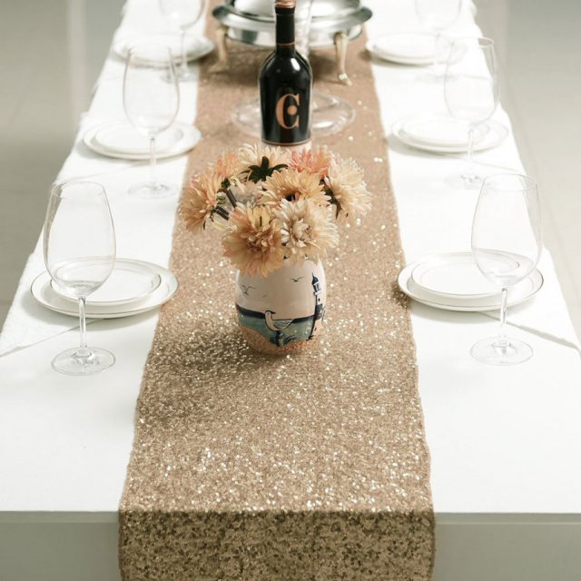 Pony Dance Decorative Glitzy Sequins Christmas Table Runner