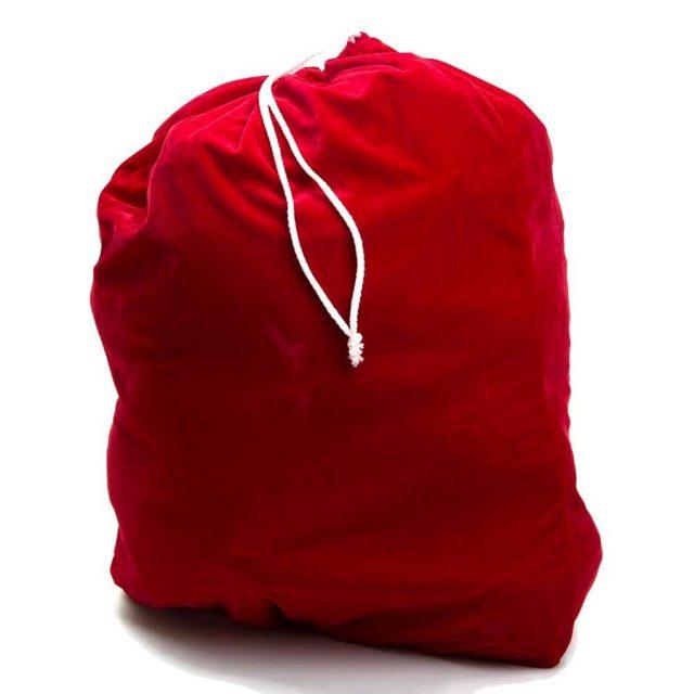 Rubie's Costume Velvet Santa Bag