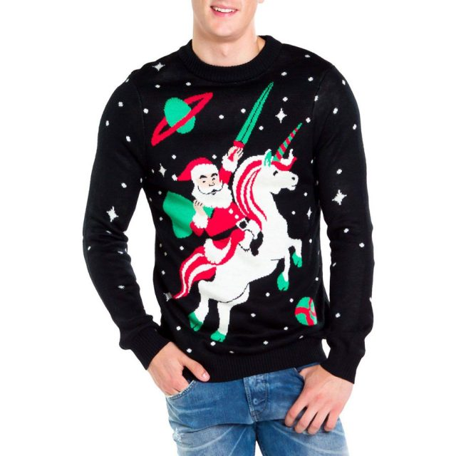 Tipsy Elves Santa Unicorn Ugly Christmas Sweater